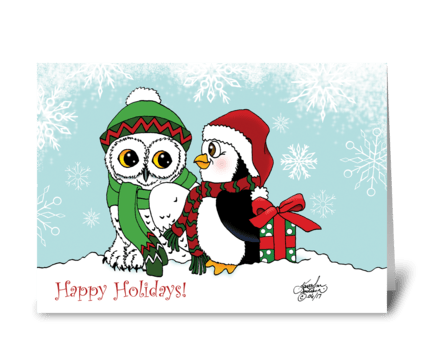 A Christmas Friendship greeting card