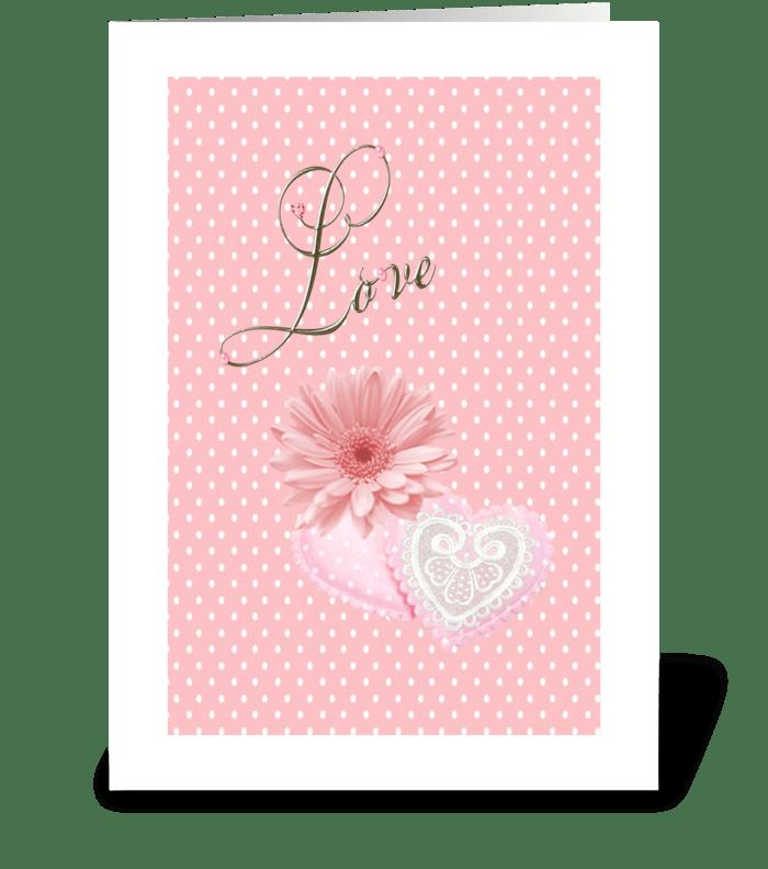 Pink Love greeting card