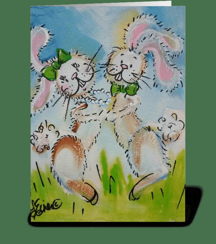 Bunny Hop greeting card