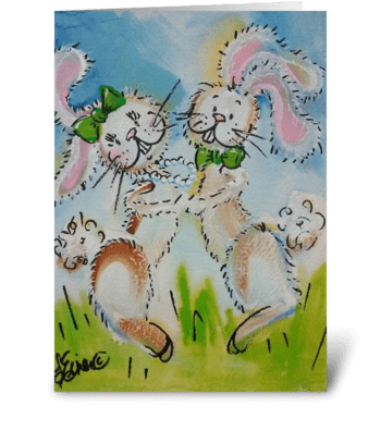 Bunny Hop greeting card