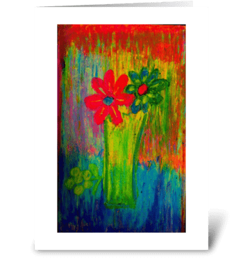 Tuscany Wildflowers greeting card