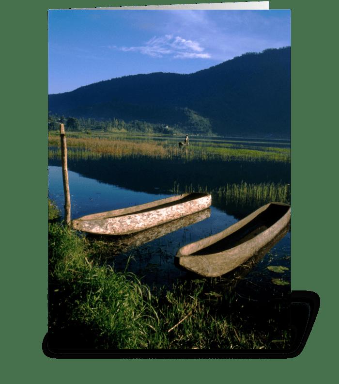 Bali Boats greeting card