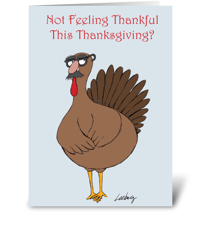 Thanksgiving Turkey Disguise greeting card