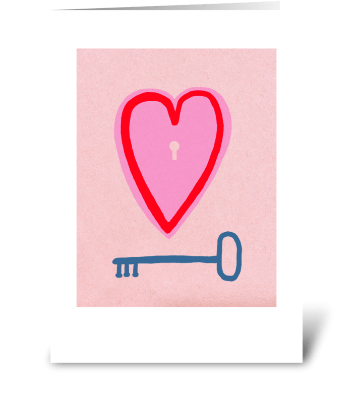 Key Heart greeting card