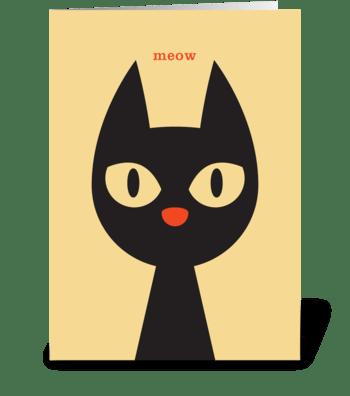 Hello Cat greeting card