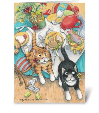 'Cat'astrophic Birthday Cats #48 greeting card