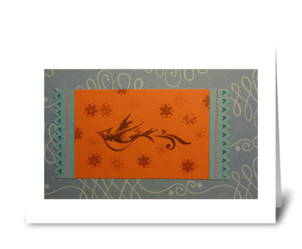 Fly Bird, Fly greeting card