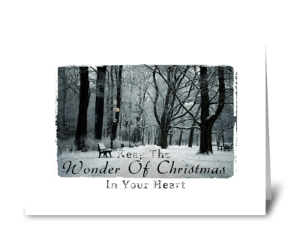 Christmas in your heart.  greeting card