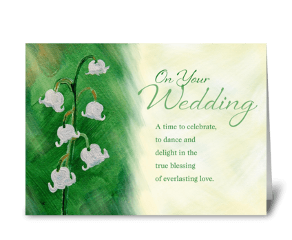 Wedding Day, Lily of the Valley greeting card