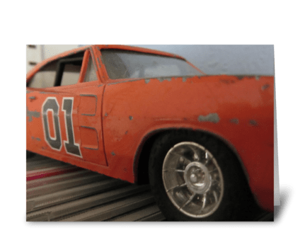 The General Lee greeting card