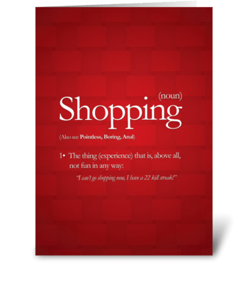 Shopping greeting card