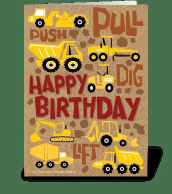 Construction Birthday greeting card