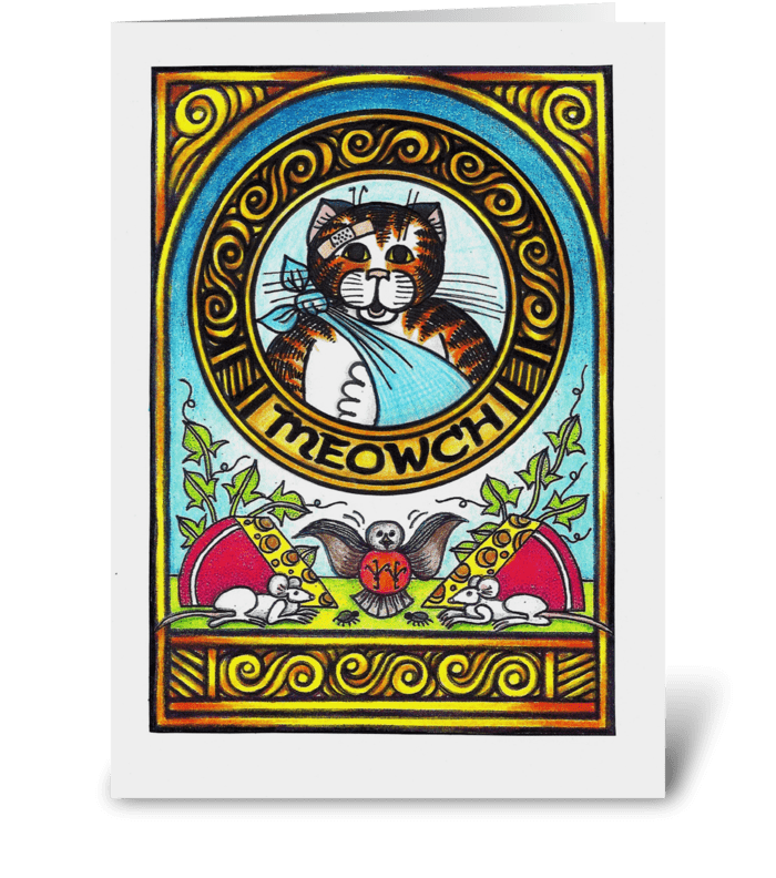 Meowch greeting card