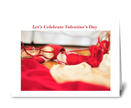 Let's Celebrate Valentine's Day greeting card