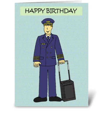 Happy Birthday Pilot greeting card