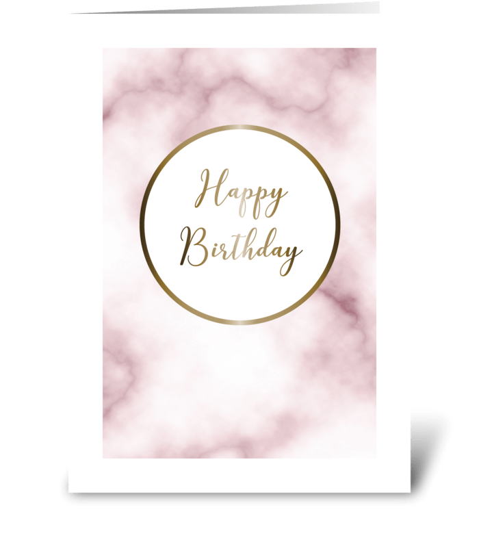Marble Happy Birthday greeting card