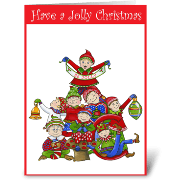 More Jingle Elves greeting card
