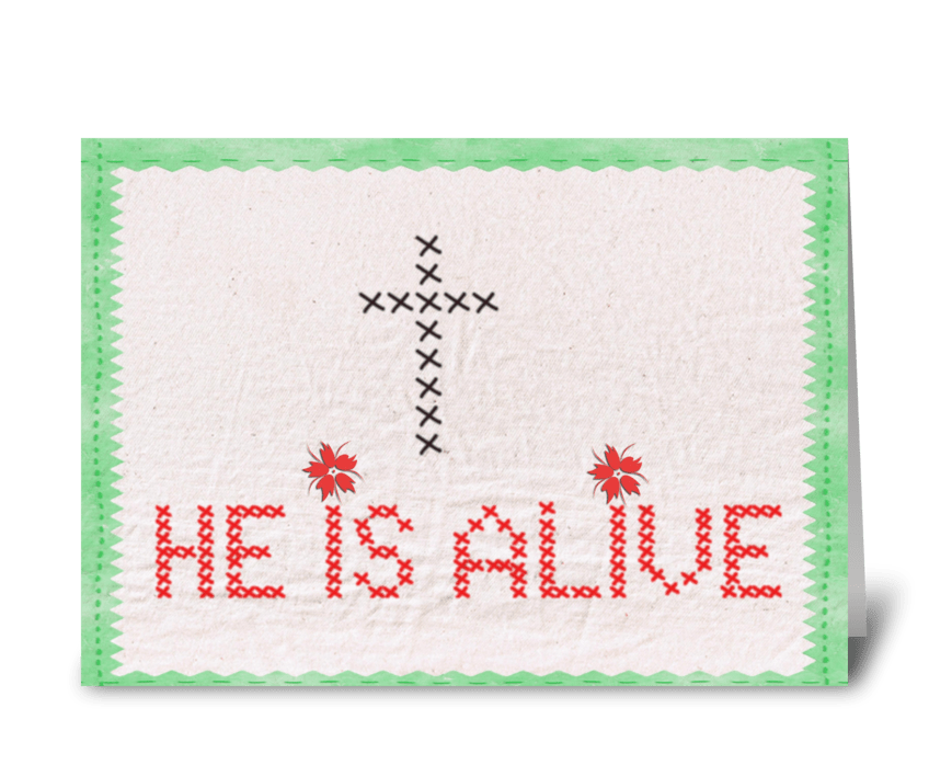 He is alive greeting card