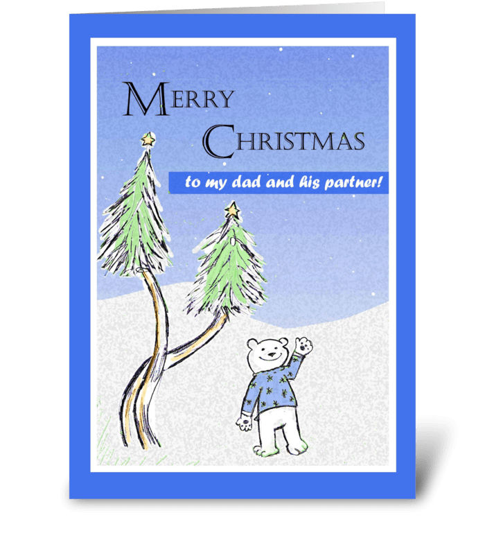 merry christmas dad and his partner greeting card - Merry Christmas Dad