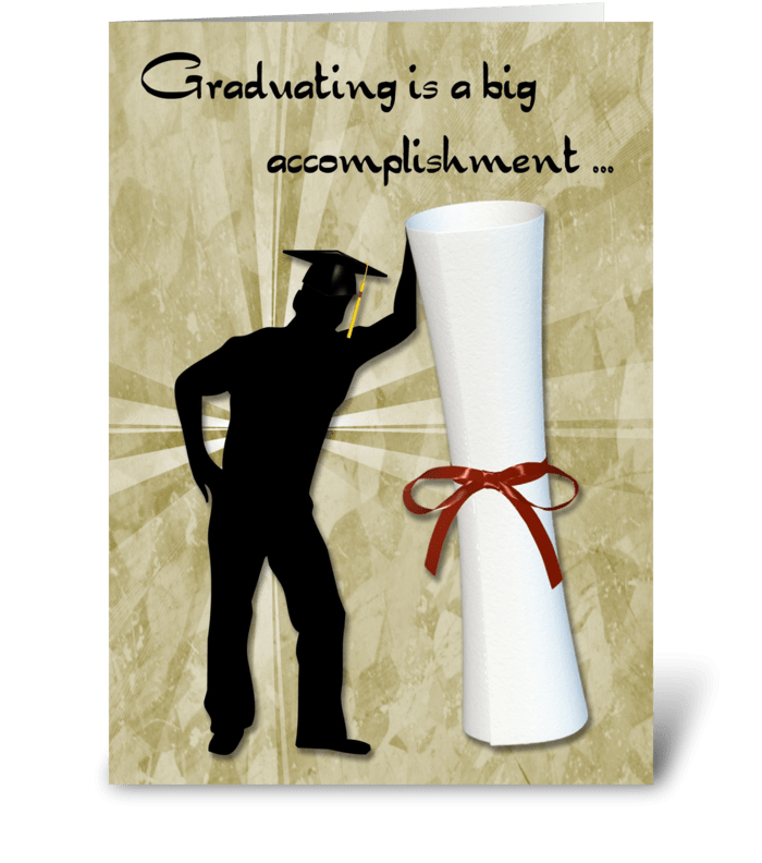 Graduate Male, Diploma, Congratulations greeting card