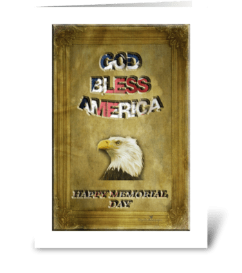 Happy Memorial Day greeting card