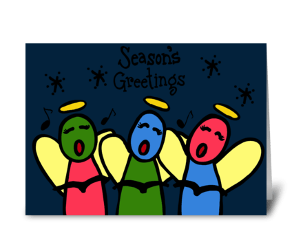 Christmas Carolers greeting card