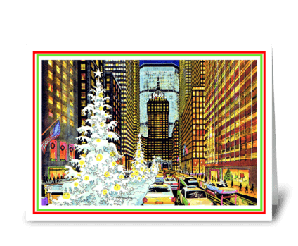 Park Avenue Holiday by Thomas F. Naegele greeting card