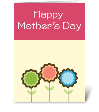 Mother's Bubble flowers greeting card