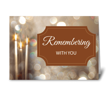 Thanksgiving In Remembrance Candles greeting card