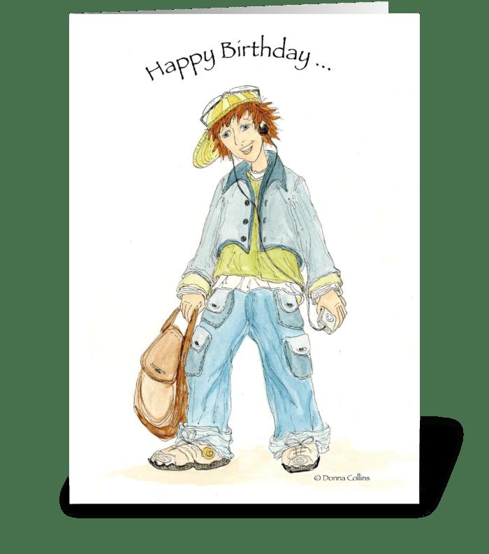 Birthday Teenager greeting card
