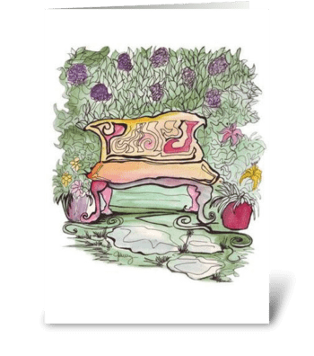 Pink Cottage Series: In the Garden greeting card