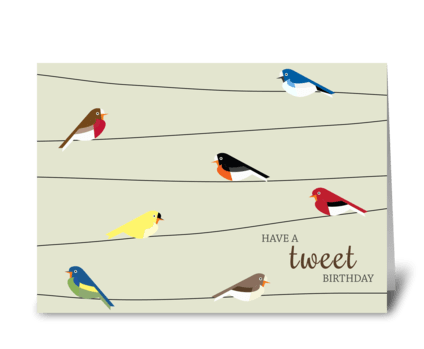 Tweet Birthday greeting card