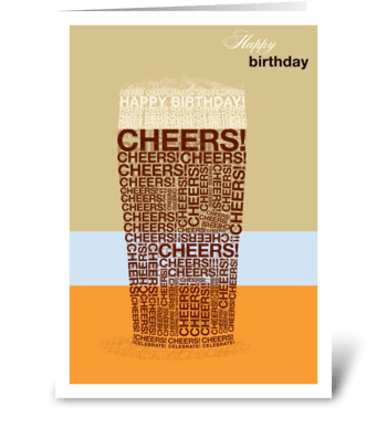 Birthday Beer greeting card