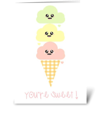 You're Sweet! greeting card