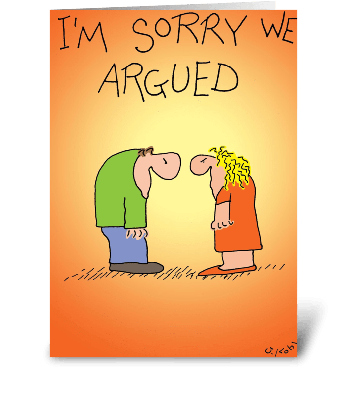 Argued greeting card
