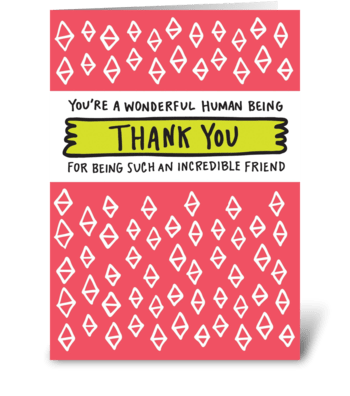 Thank You Friend greeting card
