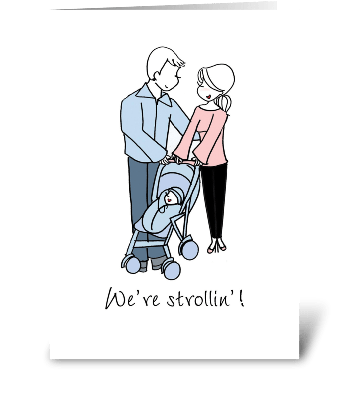 Strollin' greeting card