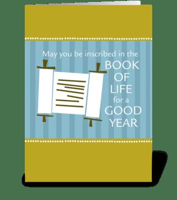Rosh Hashanah - Book of Life greeting card