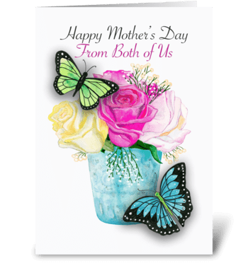 Mother's Day From Both of Us greeting card