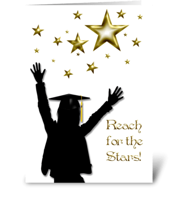 Graduate Congratulations Stars Female greeting card