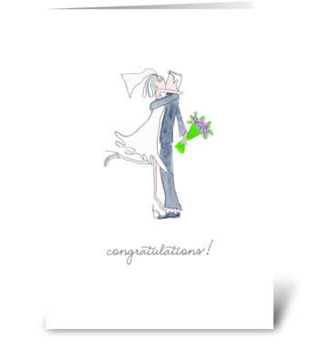 happy couple, congratulations greeting card