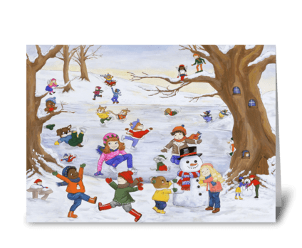 Winter Day Magic greeting card