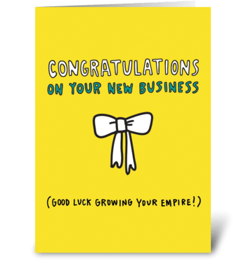 New Business greeting card