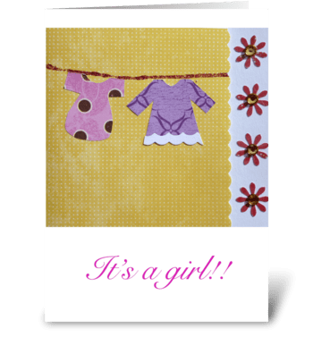 It's a girl!! greeting card
