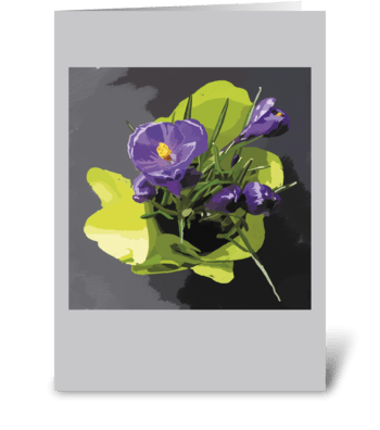 Floral_painting-violet-flowers greeting card