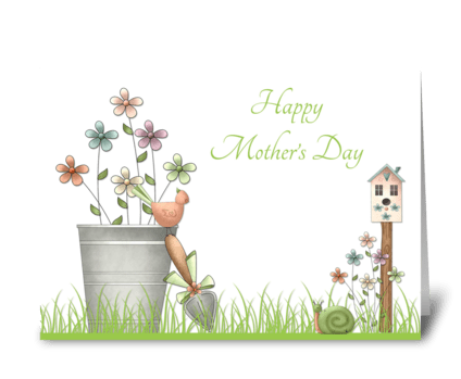 Spring Garden, Mothers Day Card greeting card