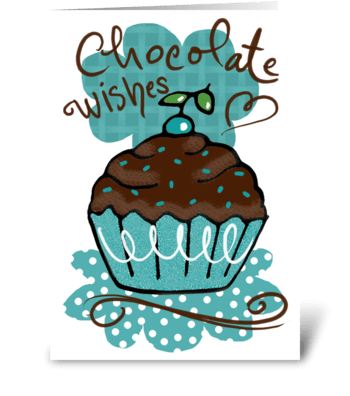 Chocolate Birthday Wishes greeting card