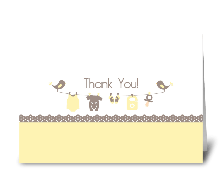 Baby Shower Thank You Card greeting card