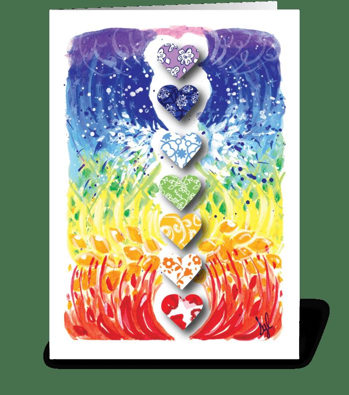 Birthday Hearts greeting card