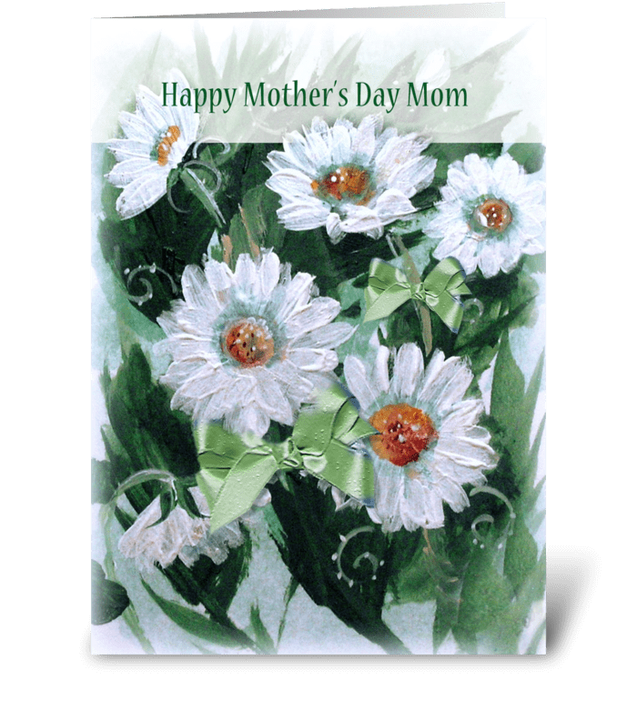 Mother's Day Daisies and Bows greeting card